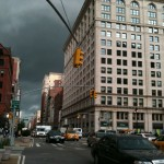 Look Up NYC! Flatiron Stormy